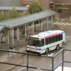 A SEPTA bus awaits passengers in Norristown.