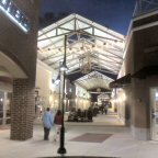 Evening walkers at Philadelphia Premium Outlets, Limerick PA.