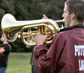 Members of the Pottsgrove High School Marching Band will compete next Friday (Oct. 3, 2008) in an event at nearby Owen J. Roberts High School. They'll also paticipate in the Stowe Halloween Parade on Oct. 19.