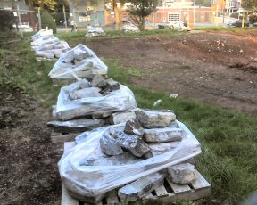 Stones from a church rectory will be recycled again.