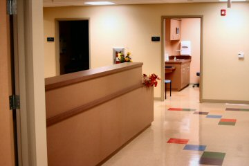 Entrance to the clinic's medical suites.