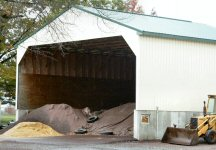 Salt and sand in storage on North Pleasantview Road.