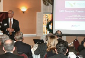 The chamber crowd was attentive during King's fifth consecutive annual discussion of the economy.