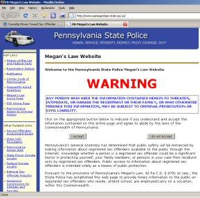 Pennsylvania's sex offender registry website.