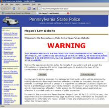 The state's Megan's Law website.