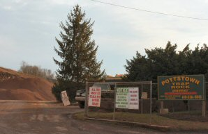 The entrance to H&K's Sanatoga Road quarry.