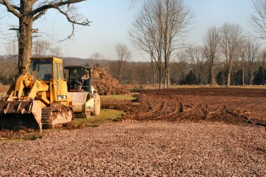 Grading of the property at East High Street just west of Rupert Road got under way this week.