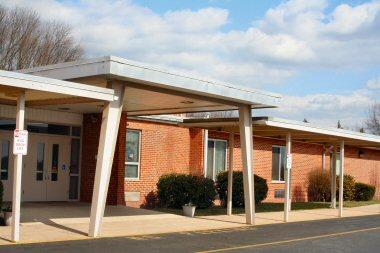 Front entrance at Ringing Rocks Elementary School.
