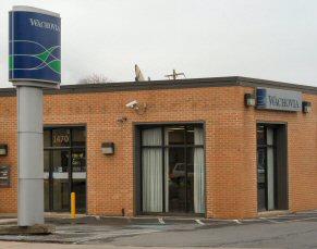 Wachovia's branch office on East High Street, Pottstown.