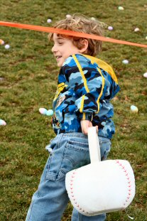 Jacob Slanker, eager for his chance at the eggs.