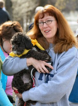 Teacher Sue Dudek of Pottstown is one of many organizers and volunteers in the Bark for Life event.