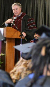 Lower Pottsgrove's state senator, John Rafferty, was the graduation ceremony's keynote speaker.