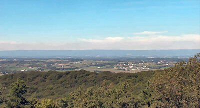 View of Pennsylvania's Cumberland Valley from Kings Gap State Park.