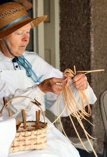 "Basket-weaving was among the skills demonstrated during the ""Rural Life in the 1900s"" day."