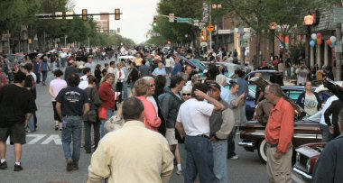 Hundreds of people Saturday roamed High Street during the first of this year's Pottstown Classic Car Shows.