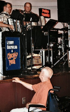Even those who had to be seated had fun. One wheelchair-bound man tapped his hand to the beat on the Sunnybrook stage, while the Chicago Push band played above him.