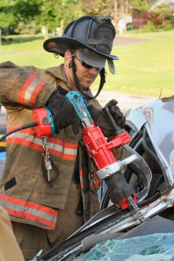 Practicing with the Jaws Of Life.