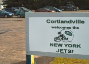 A sign of greeting for The Jets.