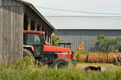 Travelers along Route 90 usually will see more trucks and tractors than cars.